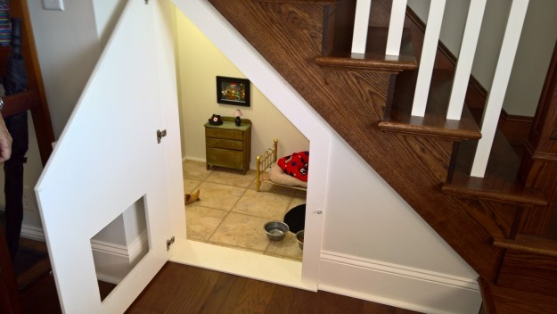 When McCall's nephew, Will Rigdon, went to visit her on Labor Day, he discovered a tiny, Harry Potter–style room she built underneath a flight of stairs, and posted the photos online.